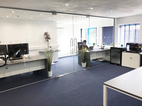 B-Tech International Ltd (Daventry, Northamptonshire): Frameless Glass Double Doors