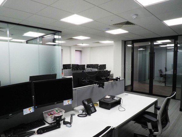 Delta Bravo Ltd (Maidenhead, Berkshire): Glass Office Fit-Out With Fire-Rated Glass Doors and Double Glazed Partitions