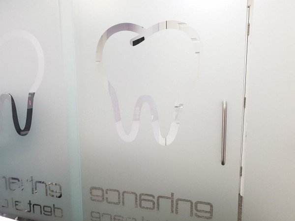 Enhance Dental Care (Yarm, Cleveland): Glass Partition With Glazed Sliding Door
