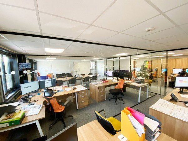 Play Area Hygiene Services Ltd (Totnes, Devon): Commercial Office Fit-out Using Acoustic Glass Partitioning