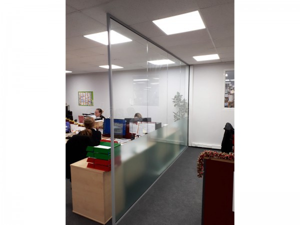 Allsop Pitts Ltd (Torquay, Devon): Small Open Ended Glass Dividing Wall For Office