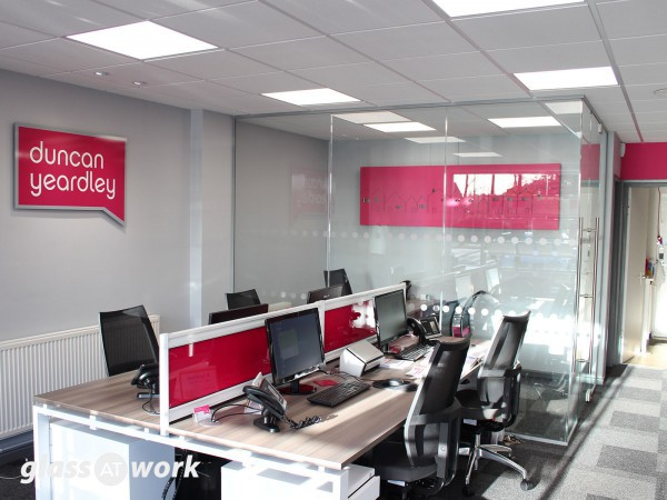 Duncan Yeardley Estate Agents (Bracknell): Glazed Partitioning