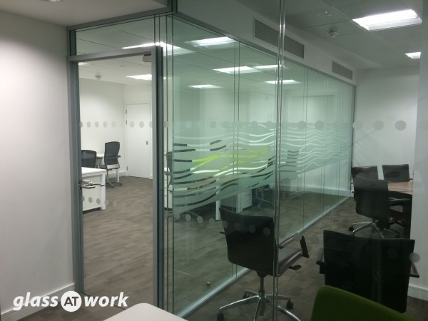 Double Glazed Frameless Glass Office Partitioning