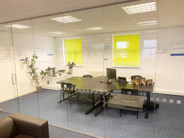 Eitex (Castleford, West Yorkshire): Toughened Glass Office Screen