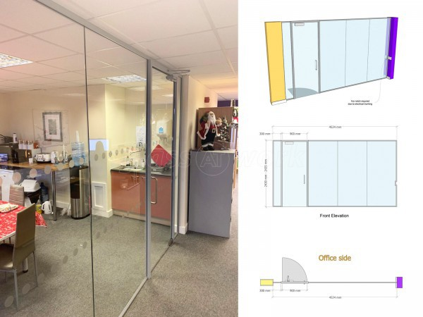 Embracing Care Services (Cramlington, Northumberland): Frameless Glass Meeting Room