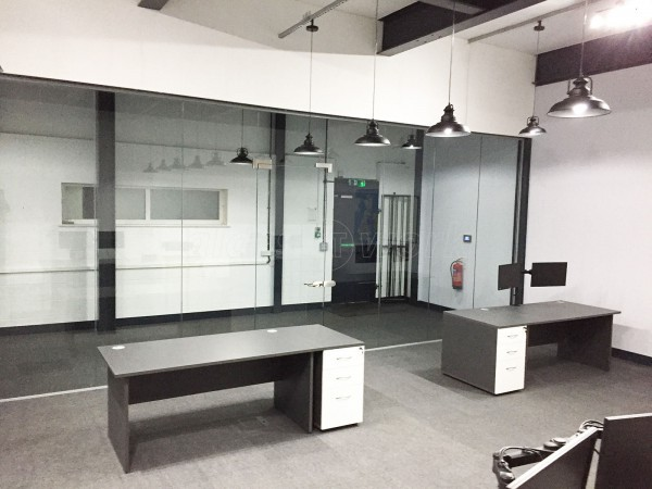 Encome Energy Performance UK Ltd (Hereford, Hertfordshire): Toughened Glazed Office Screen With Door