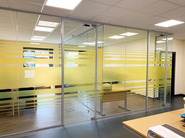 Eric Moore Partnership (Warrington, Cheshire): Glass Office Screen For Medical Practice With Soundproofing