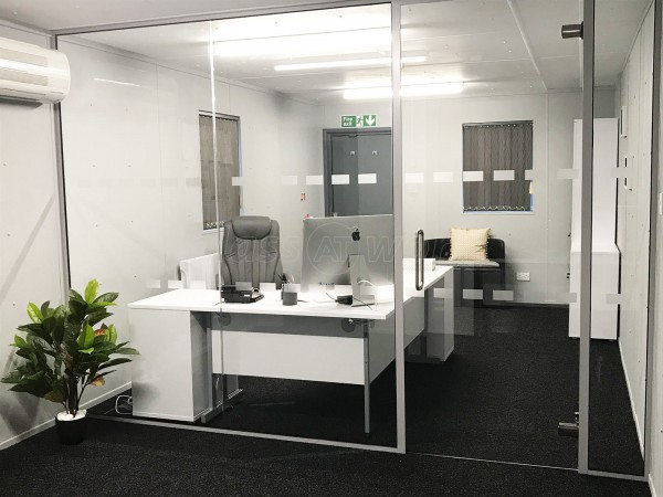 Nishikoi Aquaculture Limited (Wethersfield, Essex): Glass Office Room Divider with Door