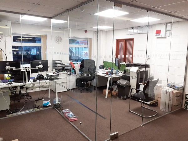 Eurotank Service Group Ltd (Stoke On Trent, Staffordshire): Stepped Glass Partition For Office Room Divider