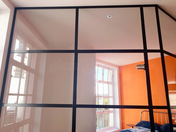 Domestic Project (Exeter, Devon): Black Banded Glass Wall T-Bar Installation For A Domestic Property