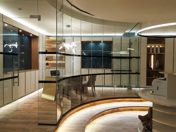 Spot This Space (Wembley, London): Faceted Glass Partition