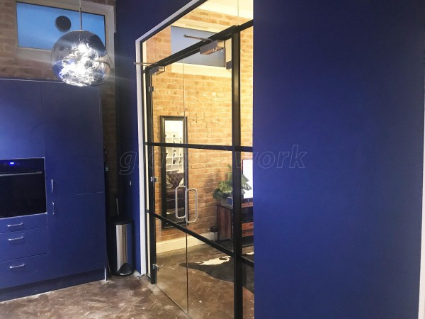 Domestic Project (Margate, Kent): T-Bar Factory-Style Glazed Partition With Double Doors