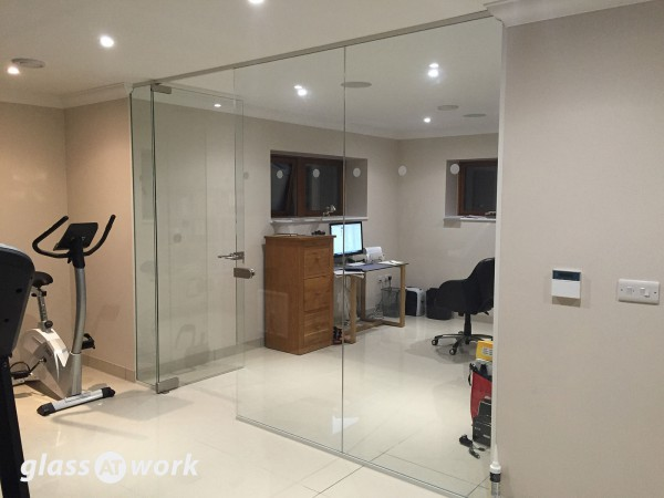 Domestic Basement (Crawley, Surrey): Glass Home Office