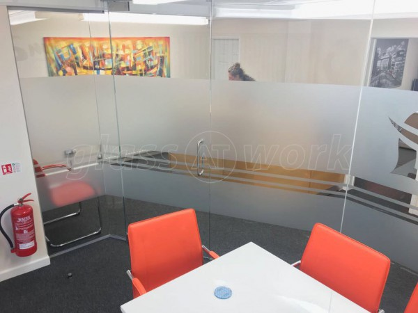 Glass partitions at lima accountancy services ltd leeds for Room 4 design leeds