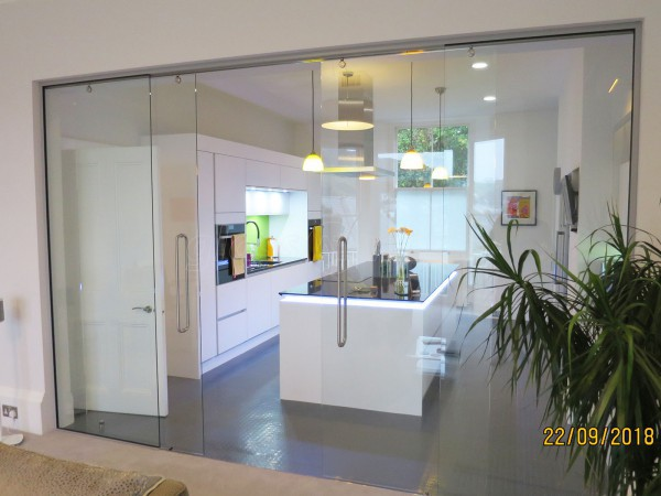 Domestic Project (Dartmouth, Devon): Non-Fire Rated Double Glass Sliding Doors At A Domestic Seaside Property