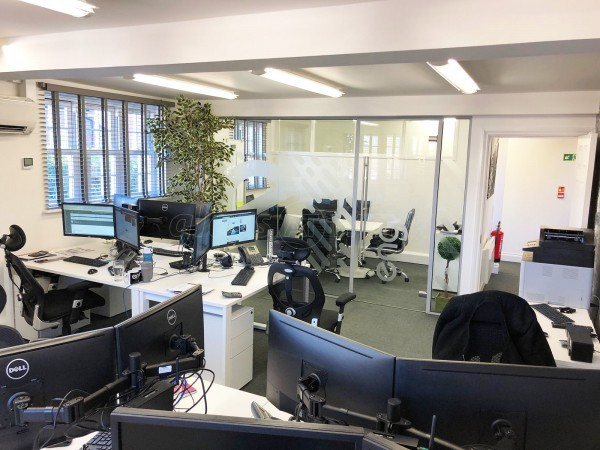 Engage Business Media Ltd (Weybridge, Surrey): Acoustic Office Partition / Glass Room Divider With Door
