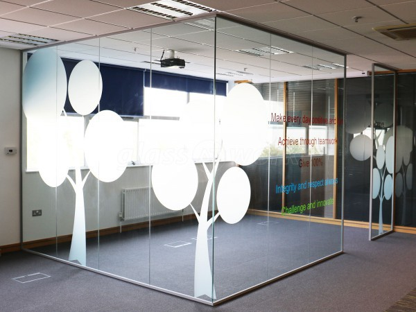 Bunzl Retail Supplies (Swinton, Manchester): Glass Partitioning With Window Film