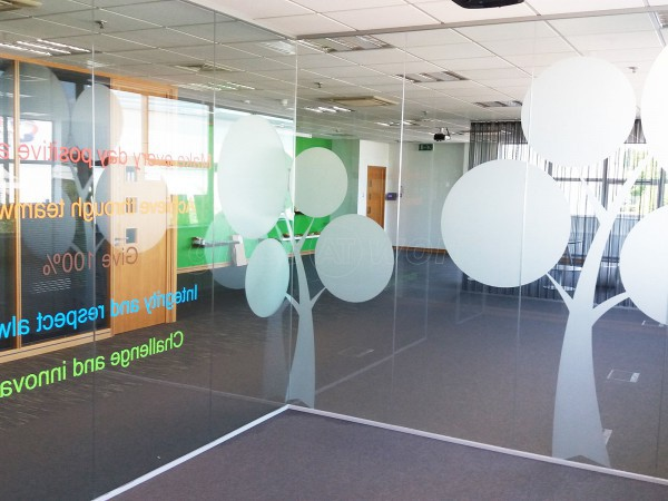 Bunzl Retail Supplies (Manchester): Glass Partitioning With Window Film