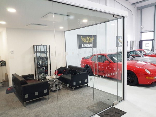 DSJ Automotive and Detailing Ltd (Stamford, Lincolnshire): Glass Corner Office For A Car Showroom