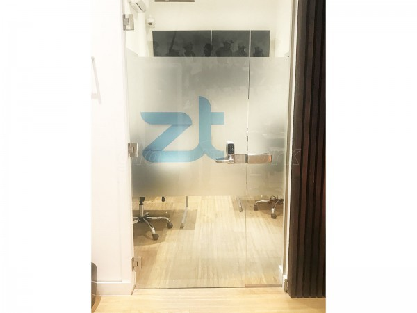 Zuri Technologies (Shoreditch, London): Glass Office Screen With Digital Lock