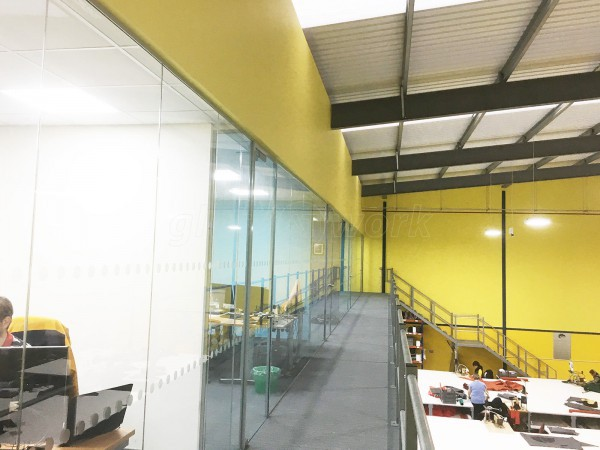 Glass partitioning at canvasman ltd baildon west for Office design yorkshire