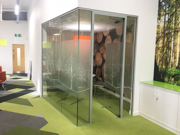 Springfield Papers (Warmley, Bristol): Glass Corner Office Partition