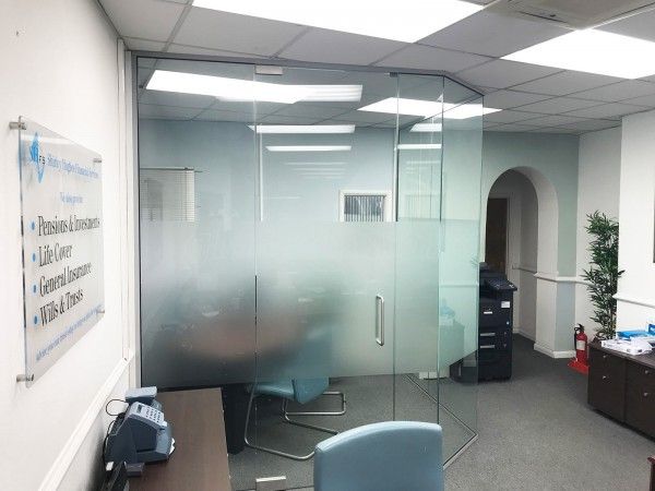 glass walls office. Shirley Hughes Financial Services (Newbury, Berkshire): Frameless Glass Office Walls