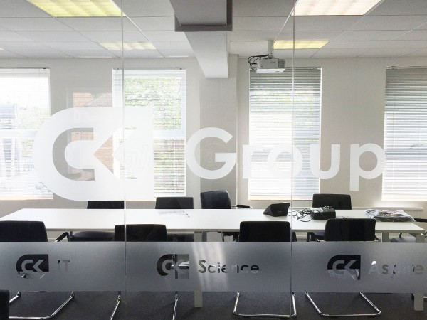 CK Group (Stevenage, Hertfordshire): Glass Office Partition