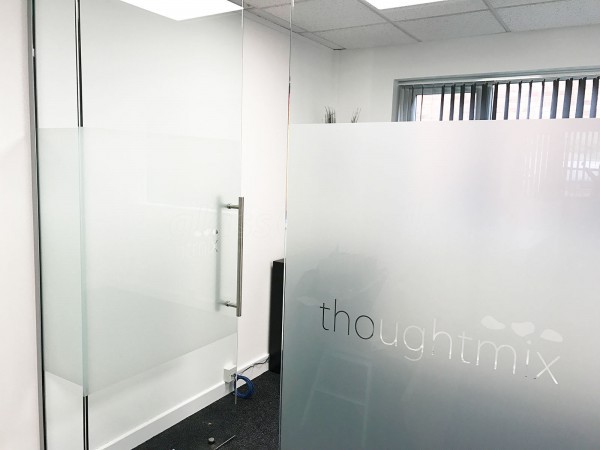 Thoughtmix (Lincoln, Lincolnshire): Glass Partition with Glass Door