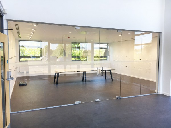 P J Spillings Ltd (Norwich, Norfolk): Glass Partition With Double Doors