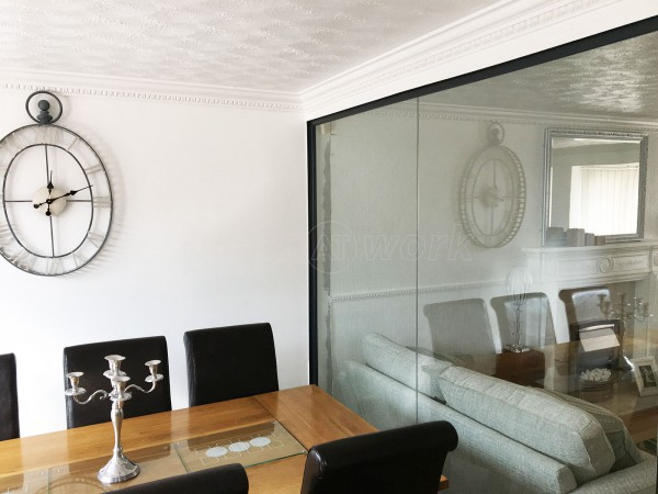 Domestic Installation (Stockton on Tees, County Durham): Residential Glass Partition Wall And Frameless Door