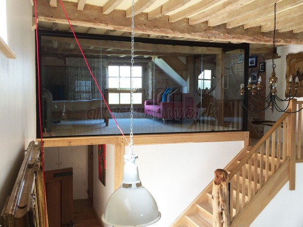 Domestic Project (Frampton on Severn, Gloucestershire): Barn Conversion Glass Partitions With Black Track