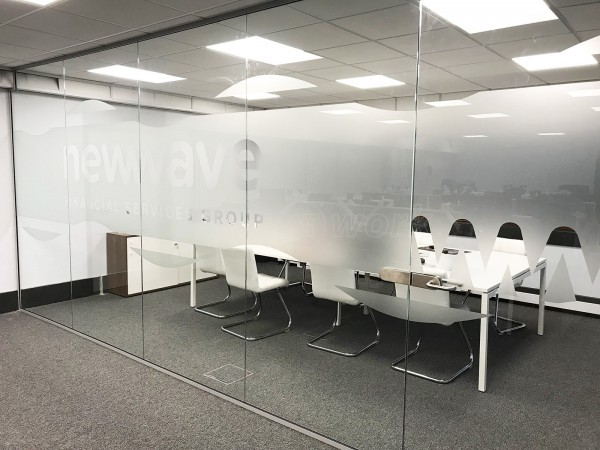 New Wave Financial Services Ltd (Basildon, Essex): Glass Screen In Office