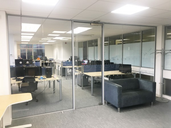 Ocean Blue Software Ltd (Brislington, Bristol): Glass Screen Partition and Door