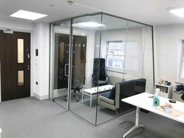 Blue Whale Capital LLP (London): Glass Walled Corner Office
