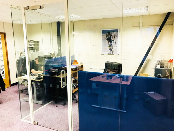 Labyrinth Computers Ltd (Yeovil, Somerset): Acoustic Glazed Corner Room (Soundproof Glass)