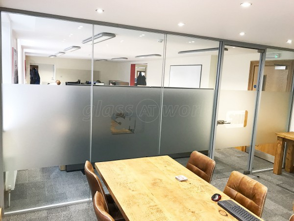 Royal IHC (Newcastle upon Tyne): Double Glazed Glass Office Partition