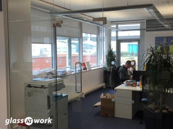 Global Wind Service (Lowestoft, Suffolk): Glass Office Partition