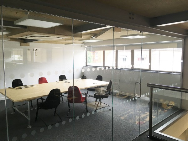 Allcoopers Limited (Gloucester): Glass Partition For Mezzanine