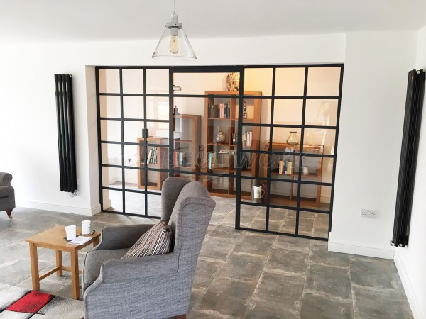 Domestic Project (Stone, Staffordshire): Industrial Heritage Style Black Framed Glazed Partition Wall