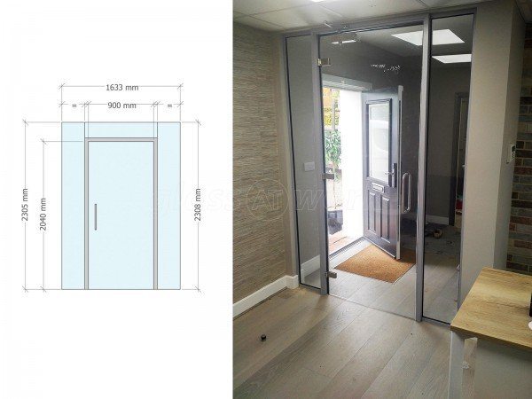 Herts Landscapes Ltd (Welwyn Garden City, Hertfordshire): Acoustic Glass Office Screen Pod With Framed Door