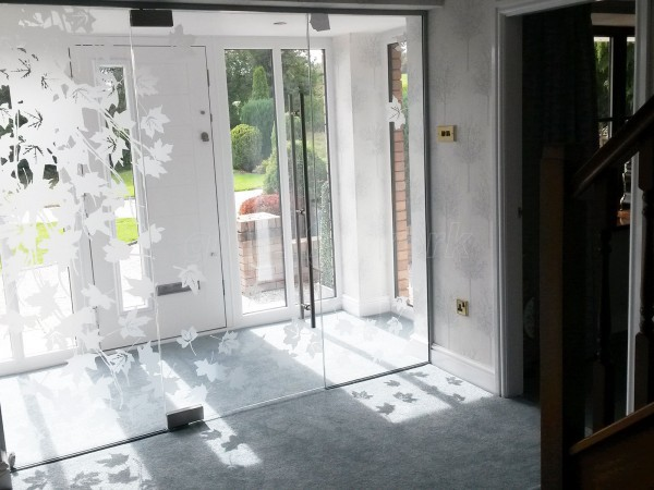Domestic Project (Holywell, Flintshire): Frameless Glass Door Vestibule