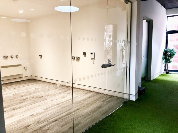 Hub Squared (Baltic Triangle, Liverpool): Multi-Floor Large Scale Glass Office Partition Fit-out