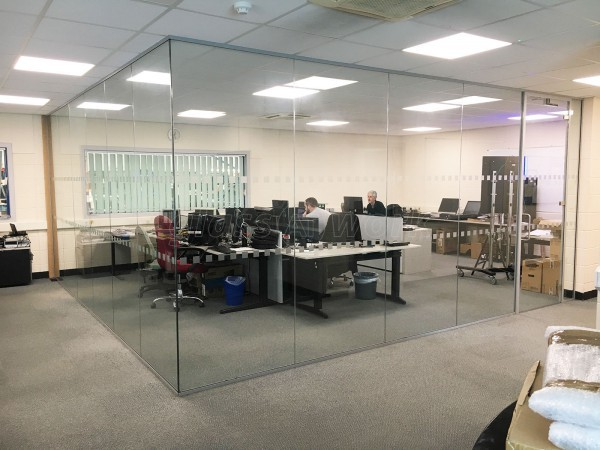 Leisure Electronics Ltd (Holderness, Kingston upon Hull): Glass Corner Office and Glass Partition Wall