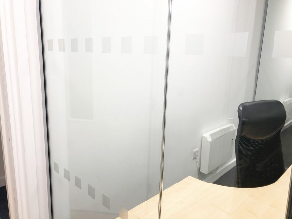 Herald Wealth Management (Shrewsbury, Shropshire): Adjoining Frameless Glass Partitioned Offices With Frameless Glass Doors