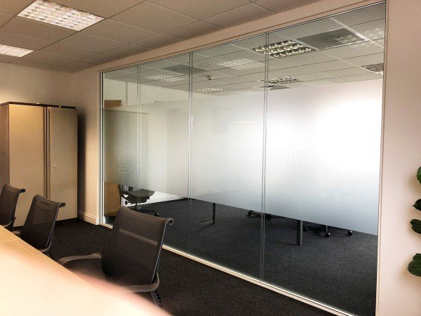 infiLED (Melksham, Wiltshire): Acoustic Double Glazed Separating Partition Wall [With Soundproofing]