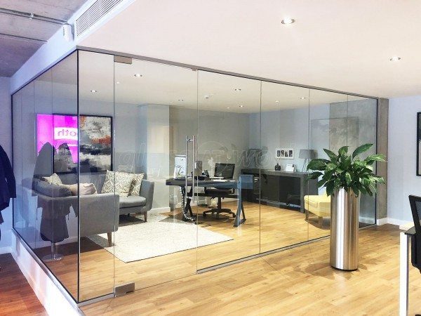 Madison Brook (Lewisham, London): Internal Glass Office Corner Screen