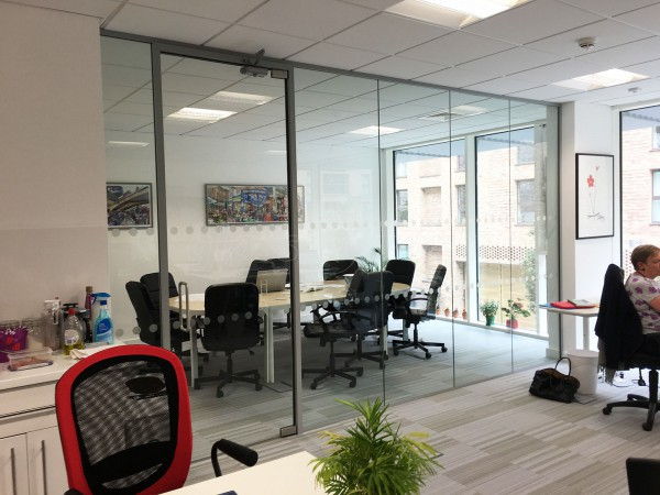 Wendy Fisher Consulting (Lewisham, London): Acoustic Glass Partition with Framed Glass Door
