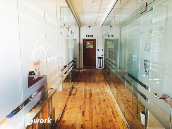 Junior Tennis Centre (London): Glass Office Partitioning