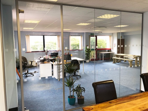 Hancock & Parsons (Ashford, Kent): Single Glazed Acoustic Glass Partition Wall
